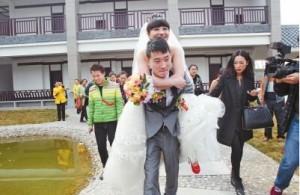 郑州90后患癌女孩冯莹与男友举行婚礼